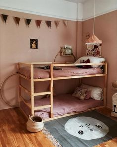 35 Fascinating Shared Kids Room Design Ideas - Planning a kid's bedroom design can be a lot of fun. Ikea Kura Hack, Ikea Kura Bed, Ikea Hacks, Kura Bed Hack, Roll Out Bed, Bunk Bed Designs, Kids Bunk Beds, Childrens Bunk Beds, Bunk Beds For Girls Room