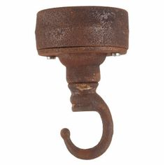 Jam Jar Lights Rust Industrial Hook Ceiling Plate: They don't come any more Industrial than this, heavy duty to the extreme. A statement ceiling rose that gives that on trend industrial look.