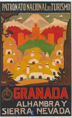 Patronato Nacional Del Turismo / Granada / Alhambra Y Sierra Nevada ~Repinned Via Nicolás Osante http://www.viajology.com/