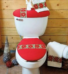 Search, discover and share your favourite juego_de_bano_de_tela images on Pininstant Christmas Makes, Simple Christmas, Red Christmas, Christmas Time, Christmas Crafts, Christmas Decorations, Xmas, Christmas Ornaments, Christmas Bathroom Decor