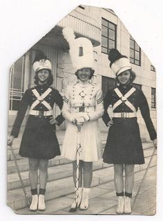 Old Photo 3 Women Majorettes vintage Photograph by girlcatdesign, $9.00