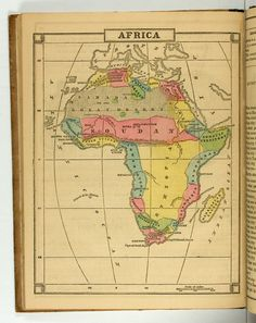 Map of Africa included on page 64 of Cornell's primary geography, published by D Appleton & Company in 1857
