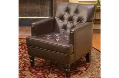 Christopher Knight Home Malone Brown Leather Club Chair - Overstock Shopping - Great Deals on Christopher Knight Home Living Room Chairs Living Room Chairs, Home Living Room, Living Room Furniture, Furniture Chairs, House Furniture, Furniture Design, Leather Club Chairs, Leather Sofas, Decoration