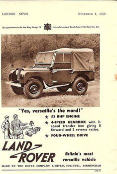 Yes, versitile's the word! - ROVERHAUL.com, Land Rover Restorations & Pictures