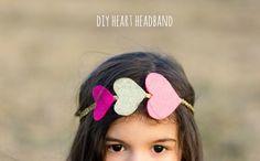 Create heart headband