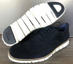 Cole Haan Men's Zerogrand Navy Suede Wingtip Oxford Shoes size 11.5 $270  #ColeHaan #Oxfords