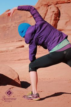 The best part about the Stonewear Designs running capri's is the scrunchy part around the knees. Semi tight and semi loose make them perfect for running, hiking, yoga and just hanging around in.