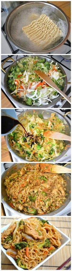 Chicken Yakisoba- this is the kind of comfort I love. Gotta make try this for the girls!