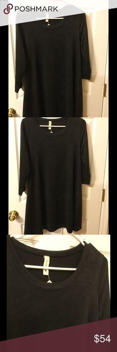 Selling this Tyche suede Boutique black dress/pockets on Poshmark! My username is: kennjenn2010. #shopmycloset #poshmark #fashion #shopping #style #forsale #Tyche #Dresses & Skirts