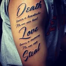 Image result for death leaves a heartache no one can heal tattoo