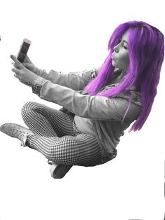I used Pixlr to create a hyper reality of some of my photos - I changed the hair colour of a model from red to purple. This means that the reader will falsely believe that the model actually has purple hair, therefore creating a hyper reality.