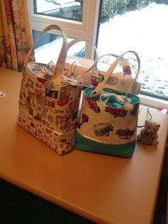 Drawstring sewing project bags :)