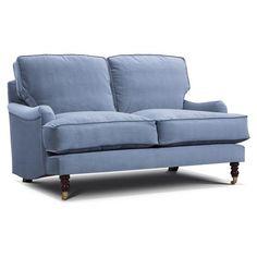 Annabelle Italian Velvet 2.5 Seater Sofa, Atol Blue | ACHICA