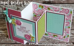 Julie Kettlewell - Stampin Up UK Independent Demonstrator - Order products 24/7: Petal Garden Double Z Joy Fold Card