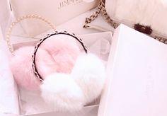 GUSTA Women Girls Winter Fashion Adjustable Faux Fur EarMuffs Ear Warmers