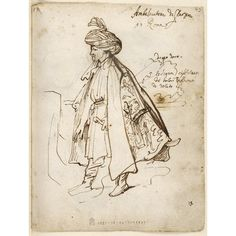 Anthony Van Dyck, a study for the costume of Robert Shirley Rome, 1622 Anthony Van Dyck, Sir Anthony, Portrait Sketches, Drawing Sketches, Drawings, Gian Lorenzo Bernini, Art Costume, Spanish Artists, Caravaggio