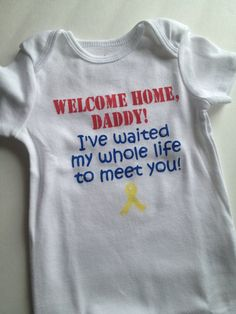 Welcome Home Onesie Homecoming Deployment by nikkiscreations2011, $10.00