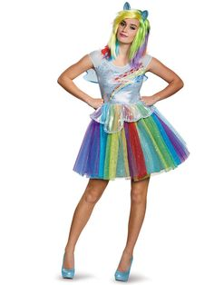 Check out Rainbow Dash Deluxe Costume - Cartoon Characters Costumes from Costume Discounters