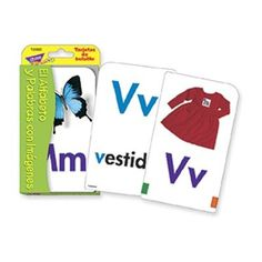 Spanish Alphabet & Picture Words Pocket Flash Cards