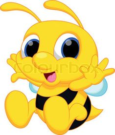"""Buy the royalty-free Stock vector """"Cute bee cartoon"""" online ✓ All rights included ✓ High resolution vector file for print, web & Social Media Bumble Bee Cartoon, Baby Bumble Bee, Bee Template, Cartoon Online, Bee Tattoo, Cute Bee, Bee Theme, Cute Characters, Baby Disney"""