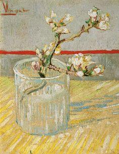 Vincent Van Gogh - Blühender Mandelbaumzweig in einem Glas
