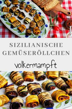 Whether as a snack at a picnic, as a party food or as a starter, the Sicilian vegetable rolls – Involtini di verdure alla siciliana made of aubergine and zucchini are filled with an old bread pesto suitable for every occasion! Mexican Breakfast Recipes, Mexican Food Recipes, Italian Recipes, Hispanic Kitchen, Tapas, Pan Dulce, Cooking Recipes, Healthy Recipes, Food Photo