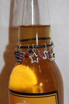 USA Beer Charm Patriotic Charms American Pride by BAWCreations1
