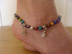 Colorful anklet Macrame beaded Anklet summer anklet by Oniropolis
