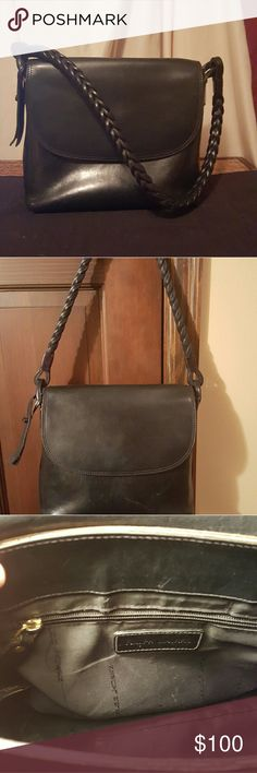 Ralph Lauren leather bag with braided strap Beautiful leather bag. There is some wear around the front, sides and flap Ralph Lauren Bags Shoulder Bags