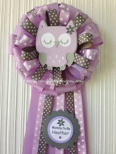 Lavander and Gray Baby Owl MommyToBe Corsage. by designsbyemilys, $24.99