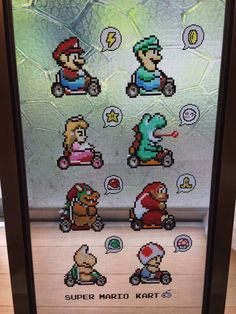 100均ショップで購入したガラス用絵の具で作る「網戸ット」が凄すぎる! - Spotlight (スポットライト) Super Mario Kart, Perler Beads, Pixel Art, Diy Gifts, Diy And Crafts, Create, Handmade, Fictional Characters, Twitter