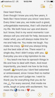Words For Best Friend, Best Friend Texts, Letter To Best Friend, My Best Friend Quotes, Message For Best Friend, Bff Quotes, Best Friend Birthday Letter, Happy Birthday Paragraph, Happy Birthday Best Friend Quotes