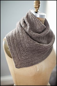 One of Jared Flood's new designs, the Romney Kerchief.  The knitting is perfect, and the color crisp and rustic neutral.  Looking forward to trying this in his yarn, Shelter.