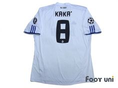 Real Madrid 2010-2011 Home Shirt  8 Kaka UEFA Champions League Trophy Patch  Badge 5b5dd9bc4