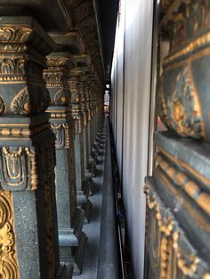Wall Pillar at Hindu Temple . #bangkok #hindu #temple #religion #column #pillar #travel