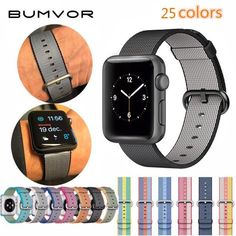 2fa8e04de3fd7 BUMVOR Sport woven nylon band strap for apple watch 42 mm 38 wrist braclet  belt