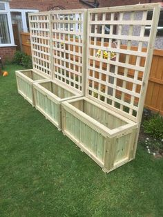 wooden planters and trellis,hot tub screen delivery included depends on postcode. wooden planters and trellis,hot tub screen delivery included depends on postcode Wooden Planters With Trellis, Deck Planters, Raised Planter Boxes, Cedar Planters, Wooden Garden Boxes, Long Planter Boxes, Wooden Planter Boxes Diy, Wooden Flower Boxes, Wood Pallet Planters