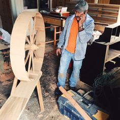 roda de fiar. carpenter and wheel maker in Nordeste, Azores, Portugal