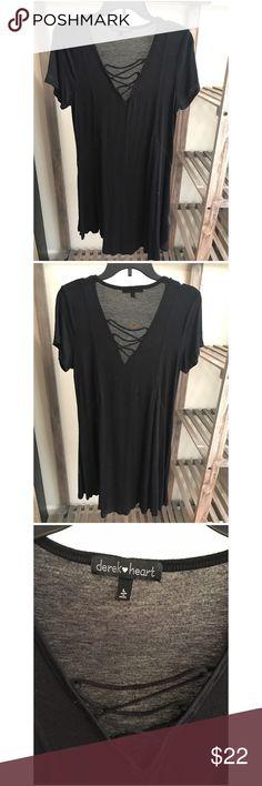 Derek Heart :: Lace Up Dress :: Black Derek Heart :: Lace Up Dress :: Black Derek Heart Dresses
