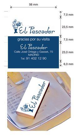 """Propuesta diseño cajas de cerillas modelo """"Hotel"""" para El Pescador en Madrid. Money Clip, Madrid, Model, Match Boxes, Angler Fish, Proposals, Appetizers, Money Clips"""
