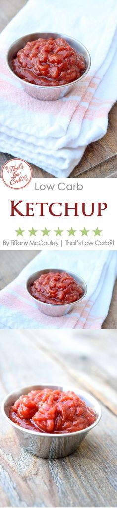 Love ketchup but not the sugar and added garbage? Making your own is easy and delicious! #LowCarb #Recipes #LowCarbRecipes #LowCarbKetchup #Homemade #Ketchup #Gluten-Free
