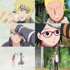 Minato and Naruto || Naruto and Sarada || Naruto Shippuden/Boruto: Naruto Next Generations || Anime Quote