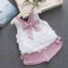 Humor Bear Baby Girl Clothes 2019 Summer New Girls Clothing Sets Kids Clothes Baby Bay Clothes Toddler Girl Coat + Pants Girls Summer Outfits, Baby Outfits, Little Girl Dresses, Toddler Outfits, Kids Outfits, Summer Girls, Winter Outfits, Fashion Kids, Little Girl Fashion