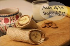 On-the-run breakfast: Peanut Butter Banana Roll Up  For more healthy recipes visit www.rebeccanoseworthy.ca #healthy #recipe #breakfast #quick  #dietitian