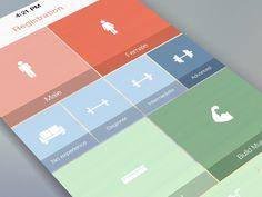 Registration form - Mobile app interface UI UX