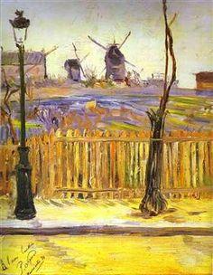 Paul Signac - Rue Caulaincourt, Mills on Montmarte 1884 Impressionism Musée de… Paul Gauguin, Paul Signac, Tag Art, Julie Manet, Musee Carnavalet, Georges Seurat, Van Gogh Museum, Ouvrages D'art, Impressionism Art