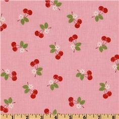 I think this would make a fun spring dress. #cherries #pink #spring