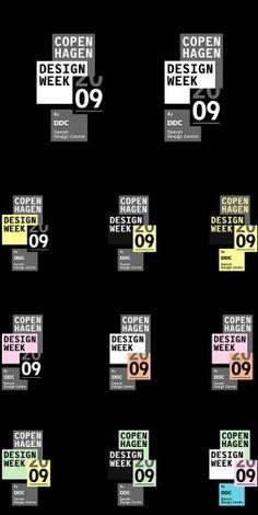Copenhagen Design Week 09 - Visual Identity #type #layout #poster