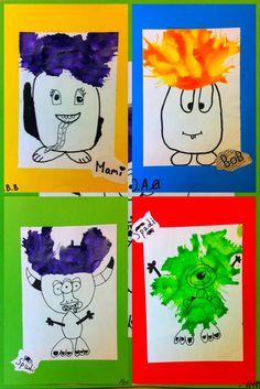 "Meet The Creative Part of Me : Kan monstre have en ""bad hair day""? School Art Projects, Art School, Bad Hair Day, Teaching Art, Kindergarten, Snoopy, Halloween, Creative, Blog"