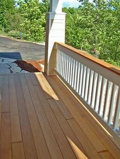 Hardwood decking and wood for porches